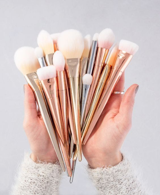 New 7pcs Makeup Cosmetic Brushes Set Powder Foundation Eyeshadow Eyeliner Lip Brush Tool Nail Design, Nail Art, Nail Salon, Irvine, Newport Beach