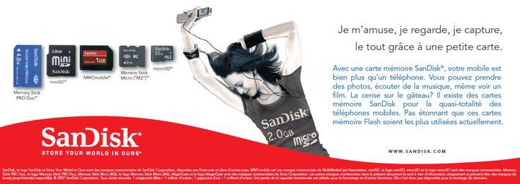 SanDisk Benelux ad