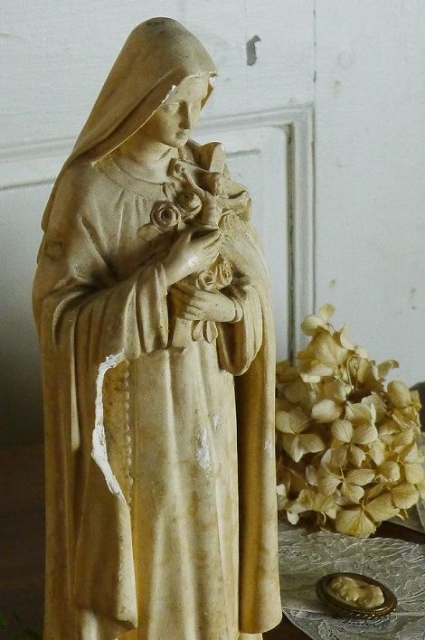 アンティーク マリア像(アイボリー) French Antique Ave Maria Statue