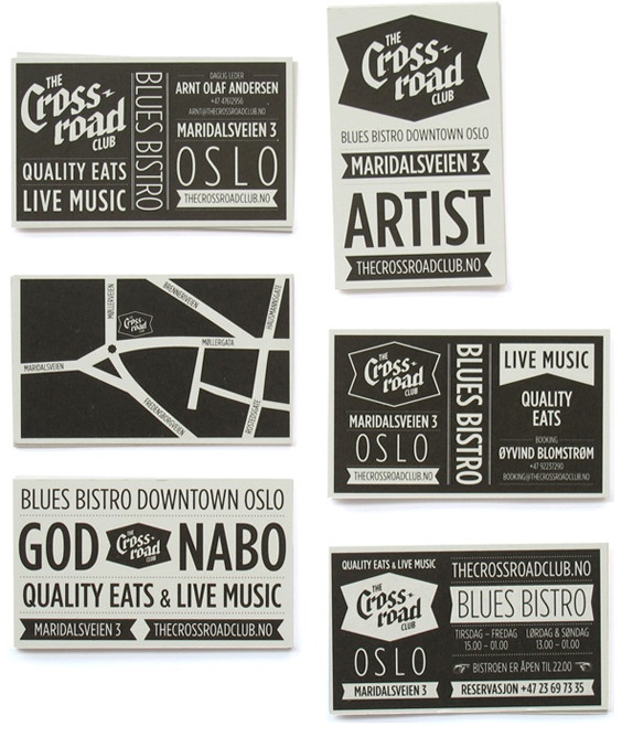 Prints Typography, Business Cardsdm, Crosses Roads, Graphics Design, Black White, Crossroads Club, White Typography, Metric System, Labels Design