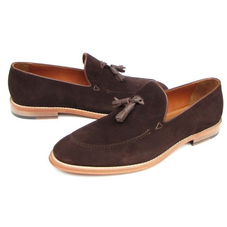 Men's Tassel Loafer Brown Suede Shoes
