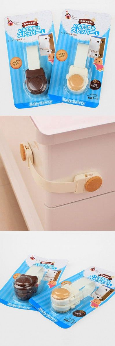 Cookies Long Lock Style Baby Safety Products Protection Kids Cabinet Drawer Refrigerator Locks & Straps 30pcs/lot