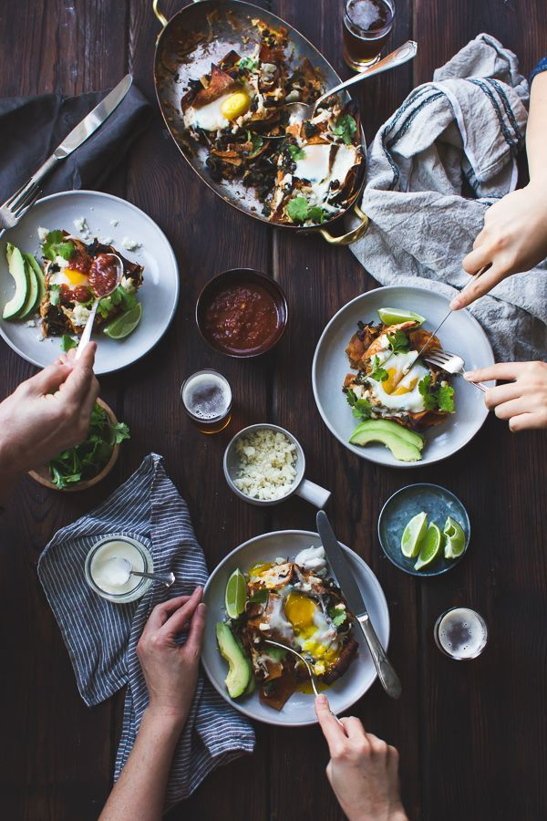 Baked Chilaquiles with Black Beans and Kale foodstyles