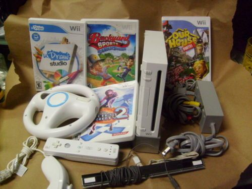 Nintendo Wii Video Game Console Bundle with 4 Games - http://video-games.goshoppins.com/video-game-consoles/nintendo-wii-video-game-console-bundle-with-4-games/