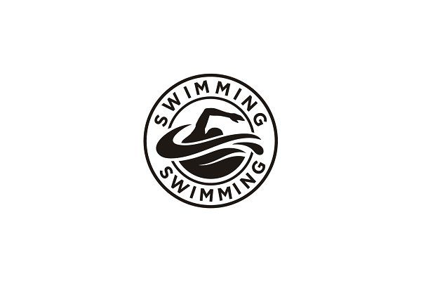 Swimming Pool Swim Stamp Emblem Logo Emblem Logo Emblems Logo Design