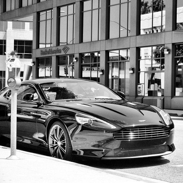 Black & White Aston Martin Virage