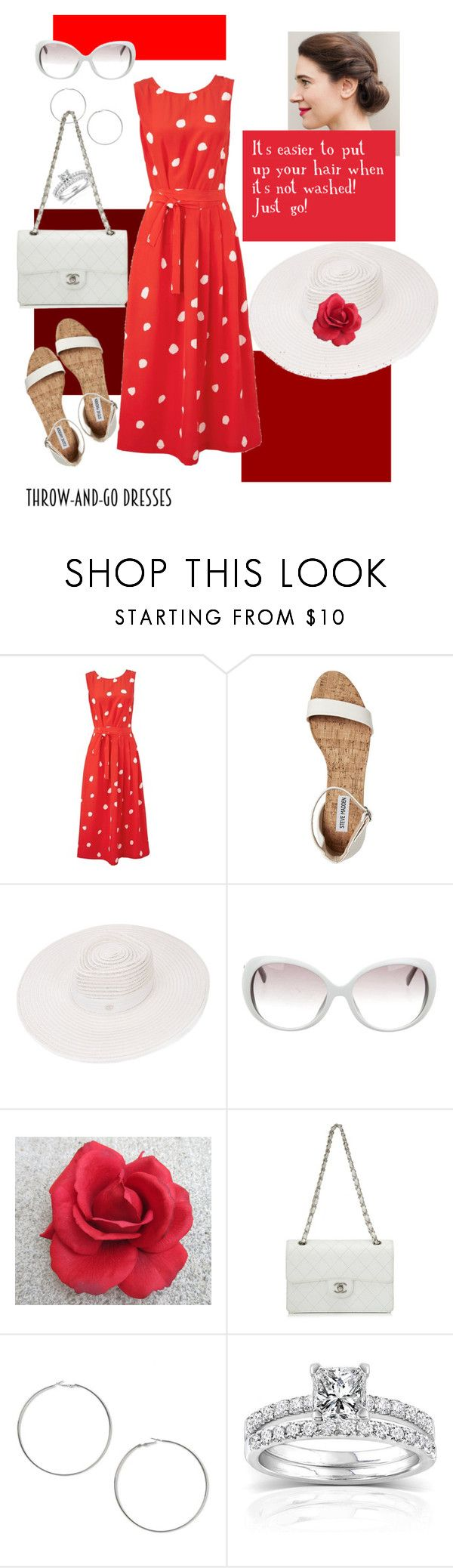 """""""Throw and Go Dresses - II"""" by mary-kay-de-jesus ❤ liked on Polyvore featuring L.K.Bennett, Maison Michel, Emilio Pucci, Chanel, Miss Selfridge and Annello"""