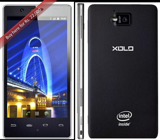 Buy Intel Xolo with 1 year manufacturer warranty for Phone and 6 months warranty for in the box accessories.  Android 2.3 OS  8 MP Primary Camera  1.3 MP Secondary Camera  4.03-inch Touchscreen  16GB Internal Memory  1 GB RAM  400 MHz Clock Speed