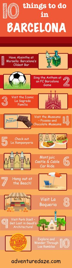 Our Top 10 Favorite things to do in Barcelona, Spain!