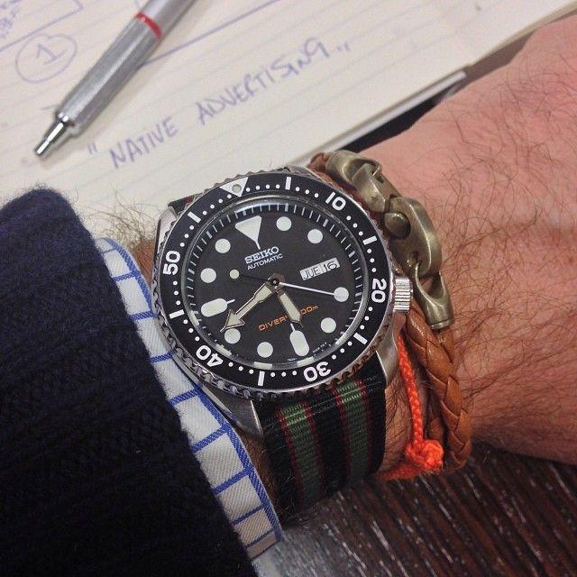 Seiko Diver on James Bond Nato strap | Flotsam | Pinterest ...