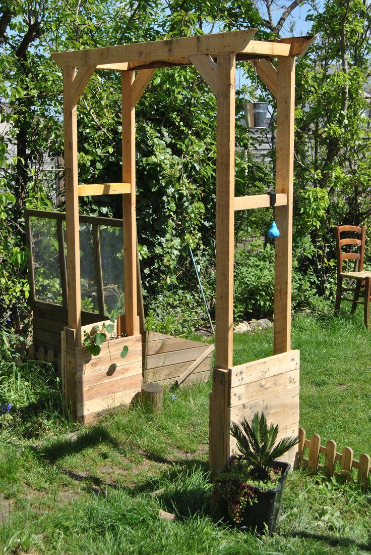 Les 25 meilleures id es de la cat gorie arche en bois sur for Arc de jardin en bois