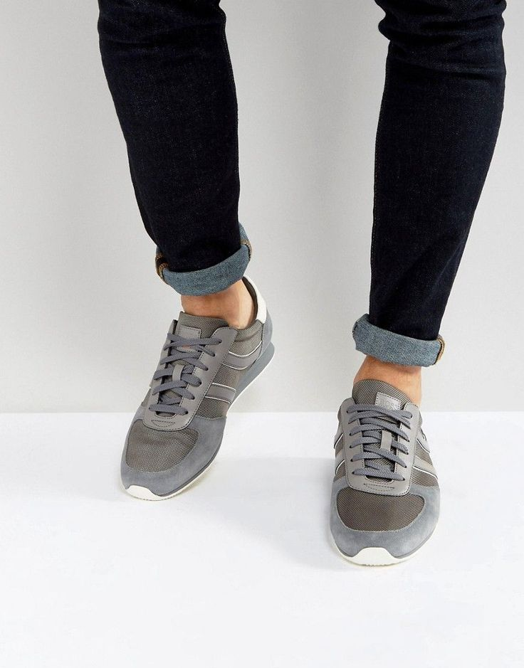 BOSS Orange by Hugo Boss Nylon and Suede Sneakers Gray - Gray