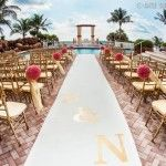 Suhaag Garden, Florida Indian wedding decorators, Trump International Beach Resort, poolside wedding, outdoor wedding, beach wedding, destination wedding, Mandap, Indian wedding ceremony, oceanfront, open outdoor Mandap, wedding aisle, pink kissing balls