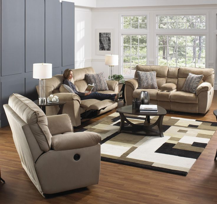 Catnapper Furniture: Ashton Collection Featuring Power Reclining Sectional  Sofa, Power Extra Wide Reclining Sofa