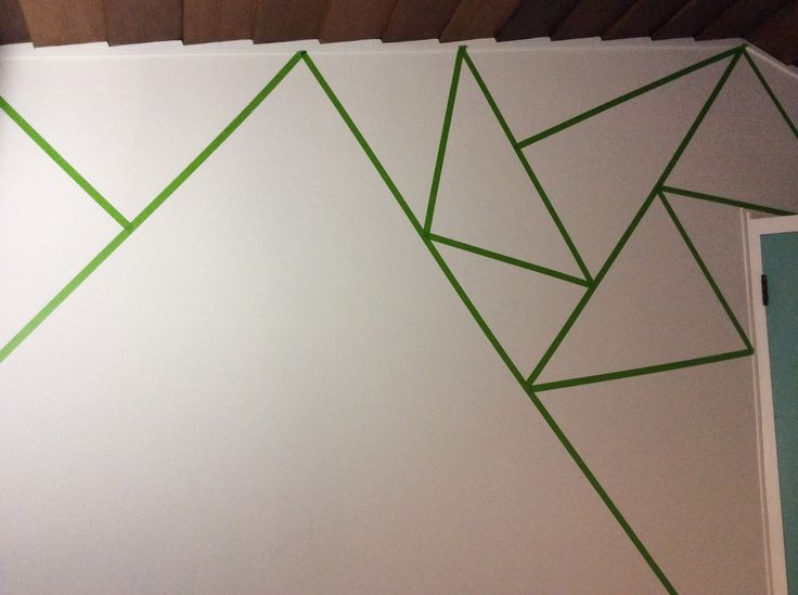 How To Start Your Triangle Wall Use Frog Tape Only