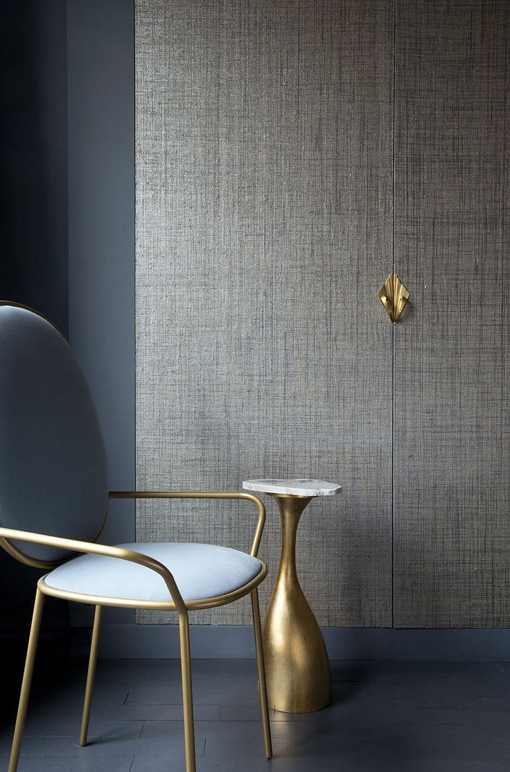 Max's Metallic Raffia featuring Phillip Jeffries, the world's leader in natural, textured and specialty wallcoverings