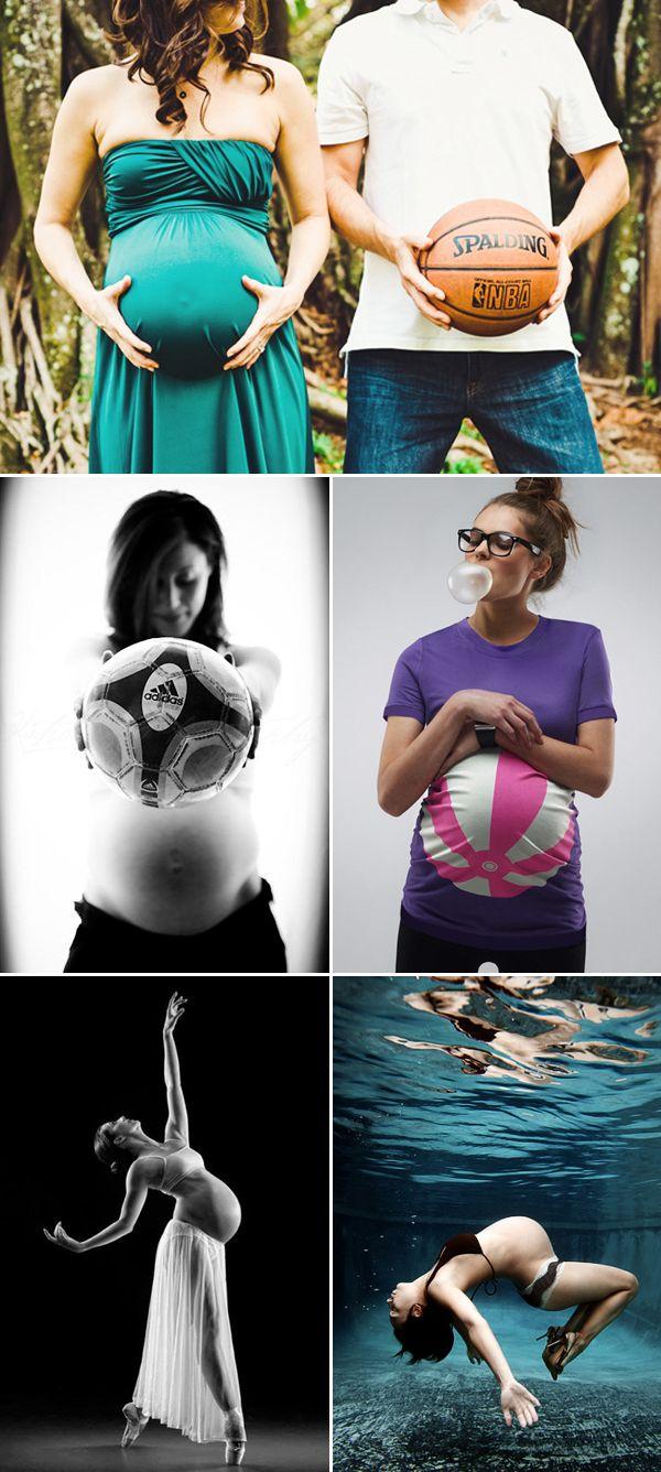Babybäuche mal anders #Ball #Babybauch #Schwangeschaft #Idee #Inspiration  http://www.praisewedding.com/archives/5560
