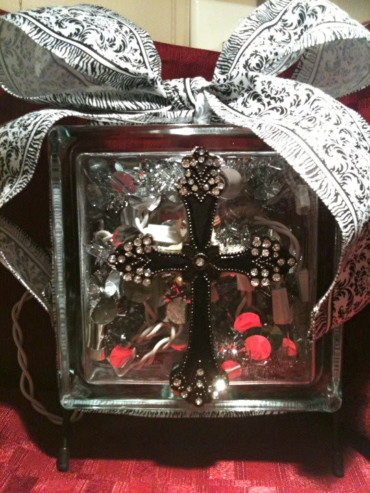 glass drill bit walmart. cross decorated lighted glass block in stand workers. glued a resin studded to center of block. inserted small silver tinsel (walmart) and 20 count drill bit walmart
