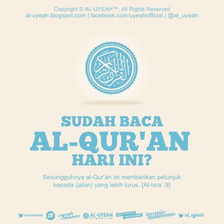 """Barangsiapa yang membaca satu huruf dari Kitabullah (Al-Qur`an) maka dia akan memperoleh satu kebaikan dan satu kebaikan akan dibalas dengan sepuluh kebaikan yang semisalnya. Saya tidak mengatakan (الم) itu satu huruf, akan tetapi (ا) satu huruf dan (ل) satu huruf seta (م) satu huruf"""". [HR. At-Tirmidzi, Ad-Darimi dan lainya; dari Abdullah bin Mas`ud Radhiyallahu 'anhu]"""
