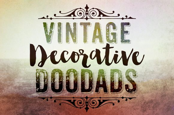 Vintage Decorative Doodads Brushes by Clikchic Designs on @creativemarket