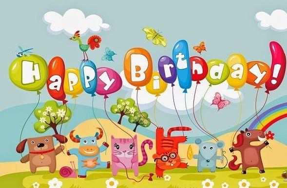 Birthday Card With Balloons Set Friend Birthday Card Happy
