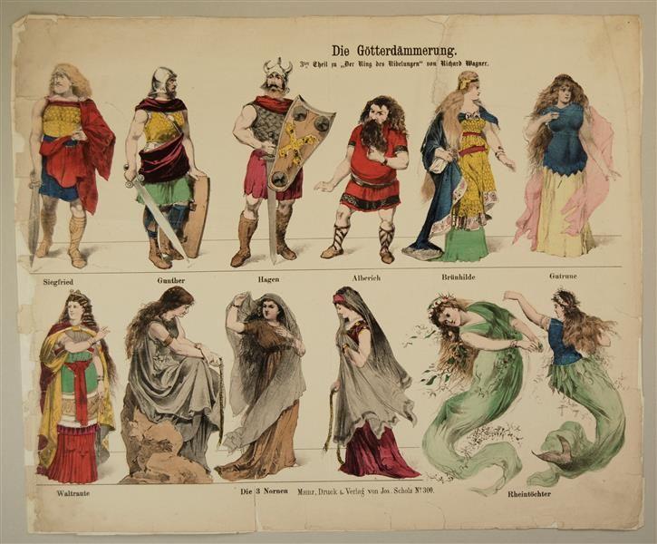 """Die Götterdämmerung. 3ter Theil zu """"Der Ring der Nibelungen"""" von Richard Wagner. No. 300."""