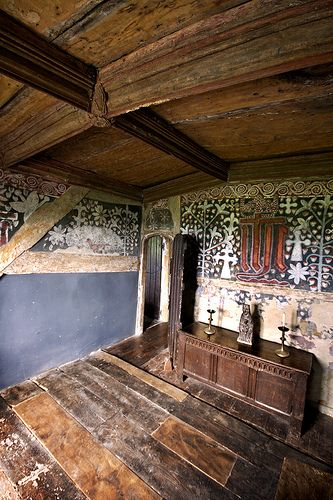 Chamber in the Lower Cockhill Farm, belonging to a yeoman in the mid 15th century.