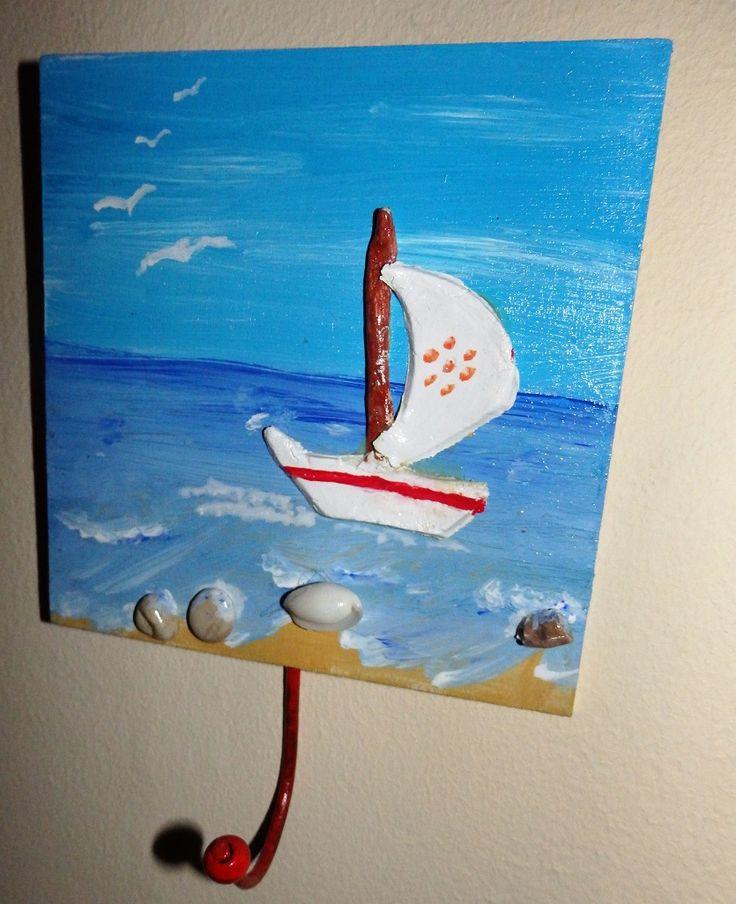 Ζωγραφική-πηλός -αληθινά βότσαλα