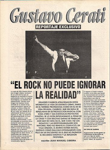 Reportaje a Gustavo Cerati | Revista Pelo | Sebastian Duran | Flickr