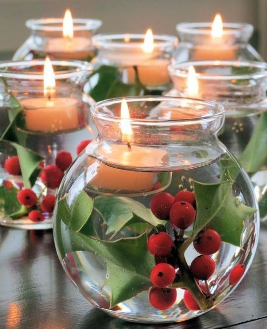 Top Christmas Candle Decorations Ideas Part 52