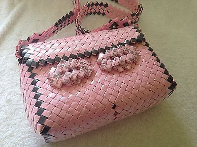 Recycled Candy Wrapper Pink Gray Purse Medium | eBay