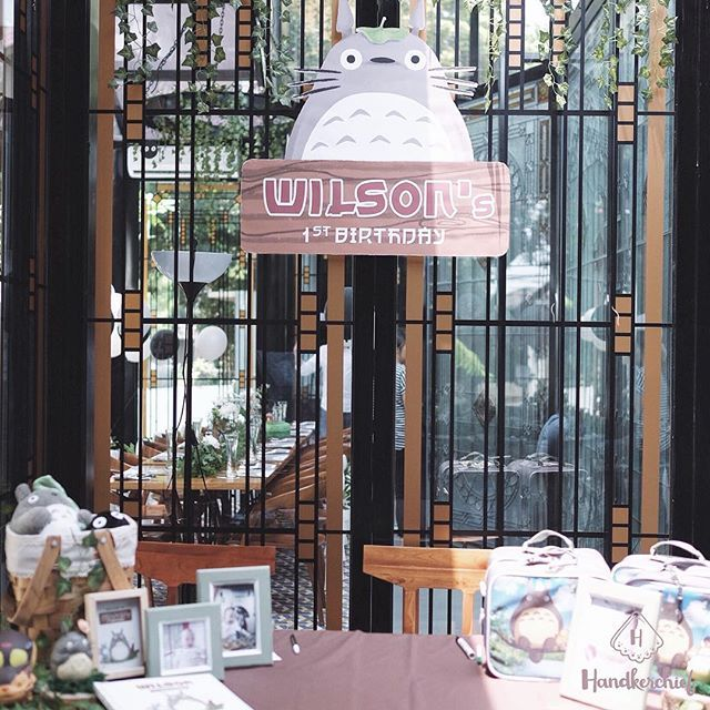 Totoro Party Decoration for Wilson's 1st Birthday  Sunday, 25 Oct 2015  Venue at @vermont_restaurant  Mc & eo by @remseydg  #handkerchiefid…