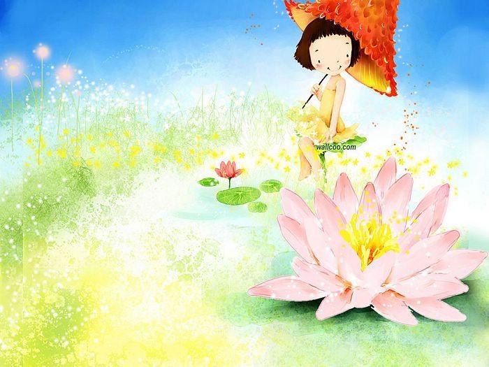 Sweet Childhood - Colorful Children illustrations by Kim Jong Bok  - Happy Childhood - Sweet Girl Art Illustration Wallpaper 14