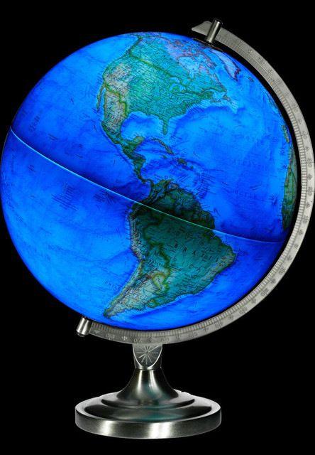 National Geographic Illuminated World Globe contemporary-world-globes