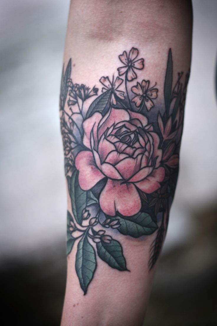 #baking inspired #tattoo by alice carrier.  culinary and baking spices, clove, caraway, saffron, star anise, nutmeg, roses and wheat. ...wish I had thought to get a baking tattoo!