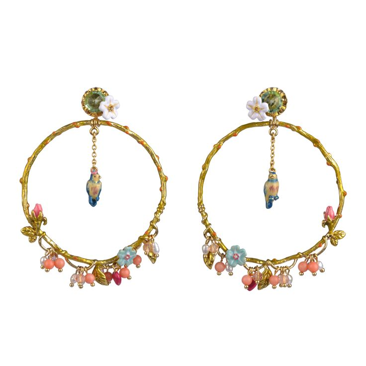 Collection Jardin d'Amour http://shop.lesnereides.com/earrings/2878-large-hoops-jardin-damour-3700377791736.html