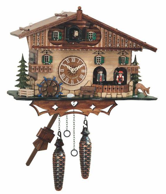 Reloj Cuco Bremen   Reloj Cuco de cuarzo, con musica y bailarines.Con sensor de luz .Relojes alemanes hechos en madera .Medidas aproximadas.... Eur:450 / $598.5