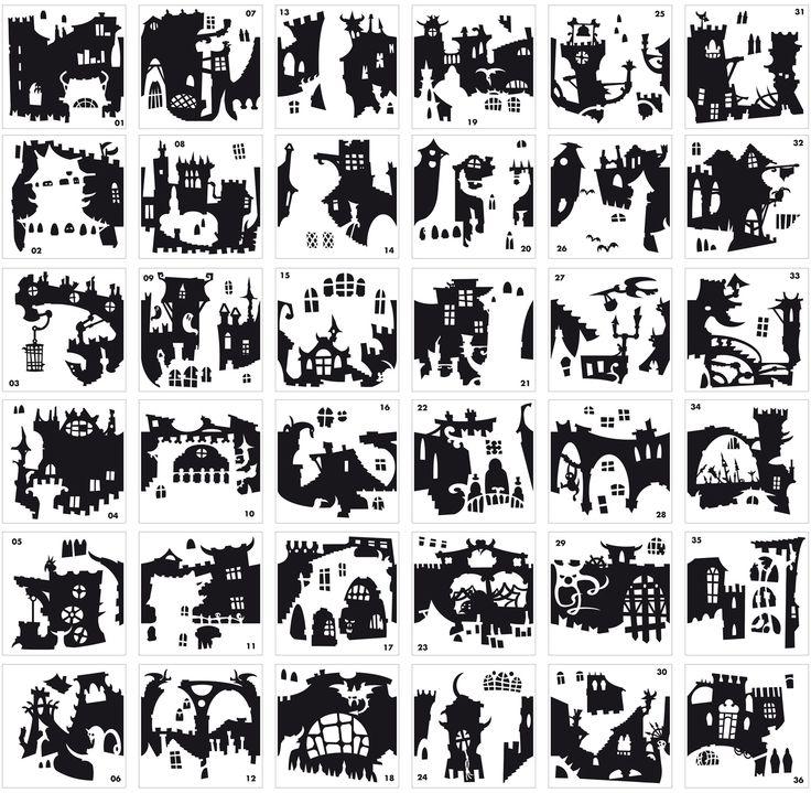 ecco i 36 pezzi differenti e completamente componibili tra loro disponibili per il momento in colore Nero o Grigio Argento