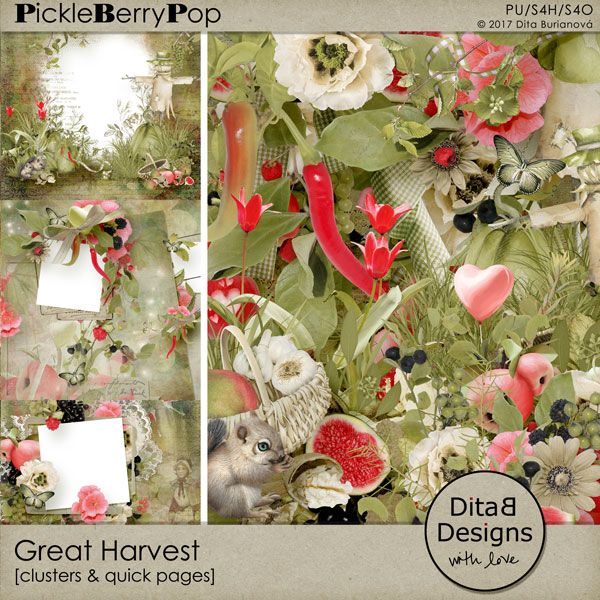 DitaB Designs:   NEW - Great Harvest  pack of clusters and quick ...