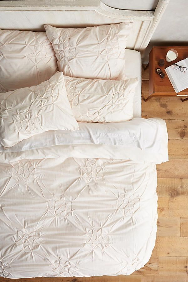 Anthropologie Twin Duvet Cover + 2 Sham Bedding Set Clairemore Pink Cotton New #Anthropologie #Contemporary