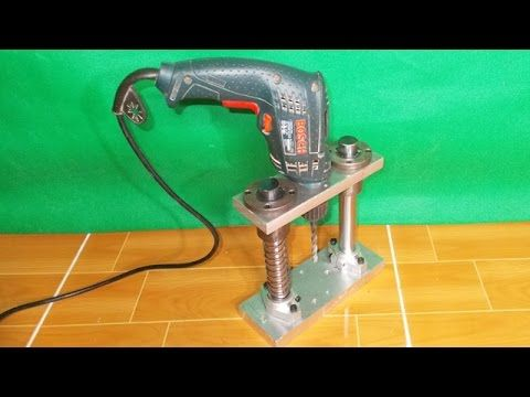 Angle Drill Guide Diy Homemade Press Drill Power Multi Tools Sander Circular Saw Home