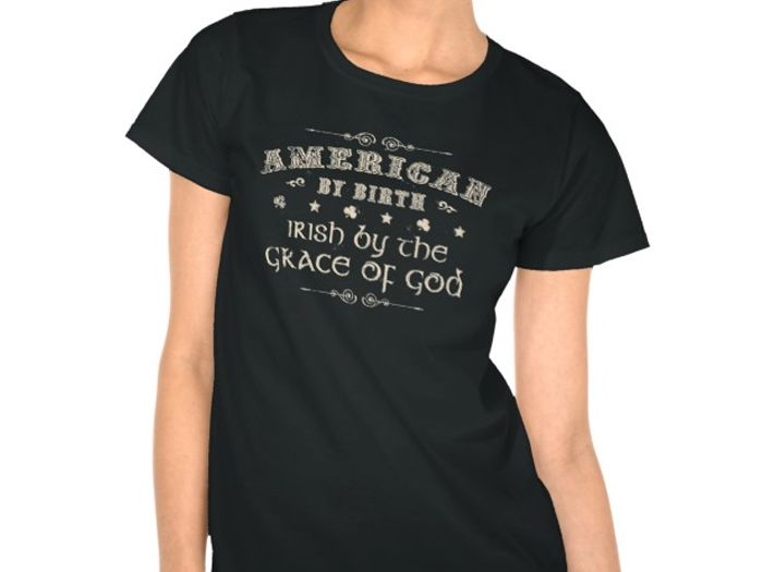American by Birth, Style is Women's Hanes ComfortSoft T-Shirt, color is black