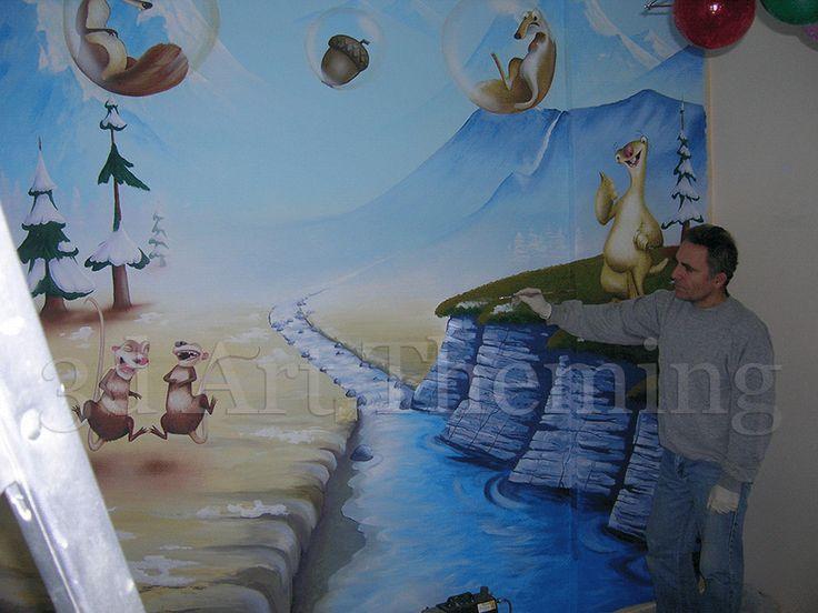 τοιχογραφίες σε αγορίστικα παιδικά δωμάτια