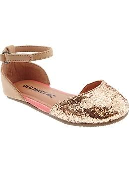 Glitter Ballet Flats for Baby. Hi, my name's Virginia and I'm greatly depressed these don't come in my size.