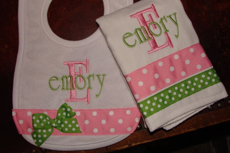 burp cloth ideas   Request a custom order and have something made just for you.