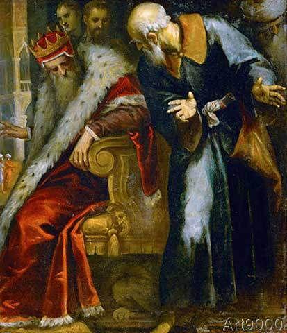 Jacopo Palma il Giovane - The prophet Nathan admonishes King David