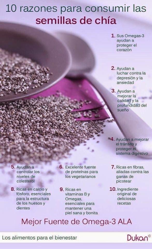 La semilla de chia  es altamente recomendable especialmente para vegetarianos, por la gran cantidad de aminoácidos esenciales que tiene....