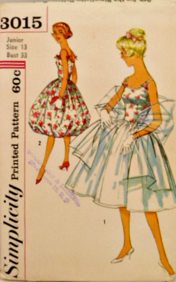 Vintage 50s Simplicity 3015 Pattern Misses by VintageNeedleFinds,