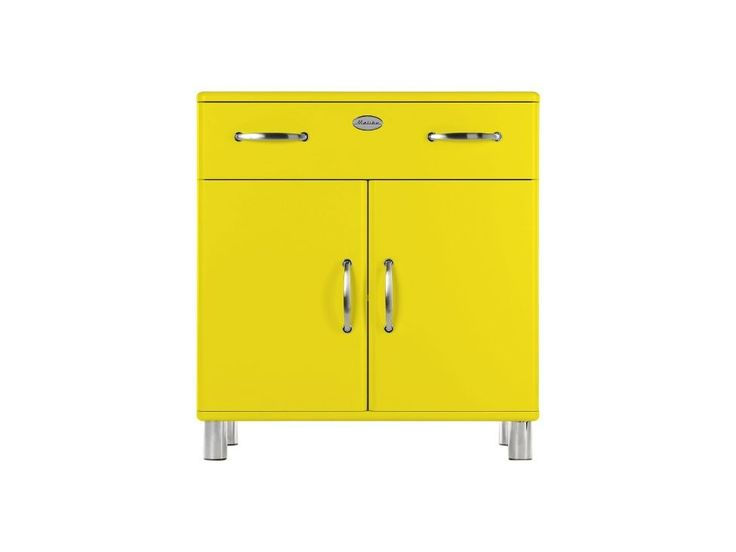 Komoda Malibu VII żółta — Komody Tenzo — sfmeble.pl  #yellow #furniture  #modern  #sfmeble