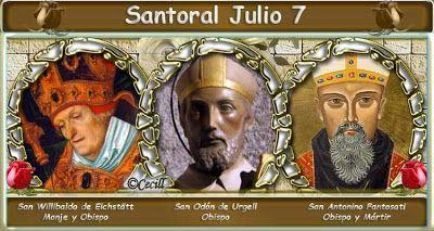 Santoral: Santoral del 7 de Julio